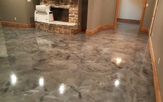 Metallic marble epoxy flooring augusta ga sexy floors for Hardwood floors evans ga